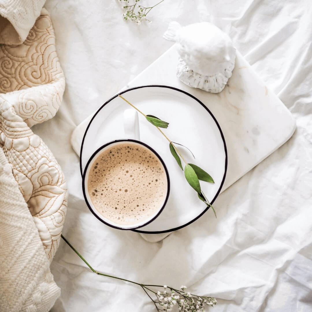 Coffee on bed