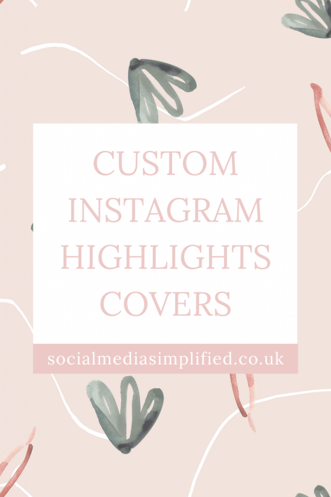 Create custom instagram highlight covers