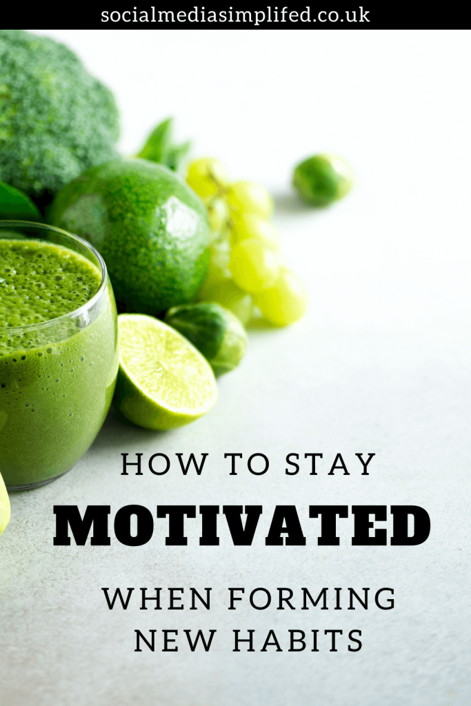 Staying motivated when forming new habits