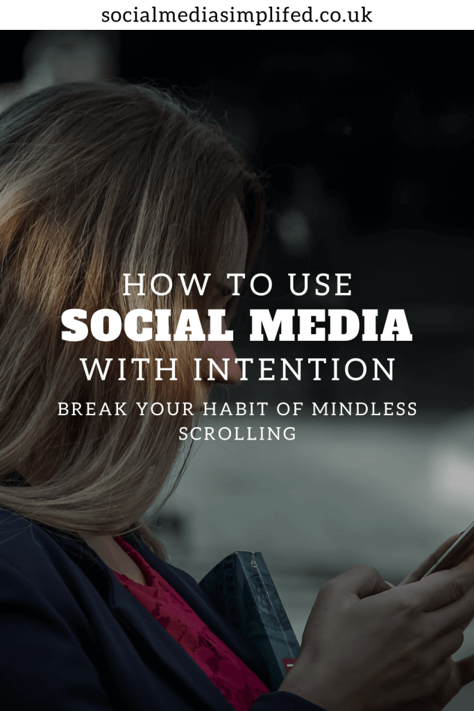 Using social media with intention and mindfulness