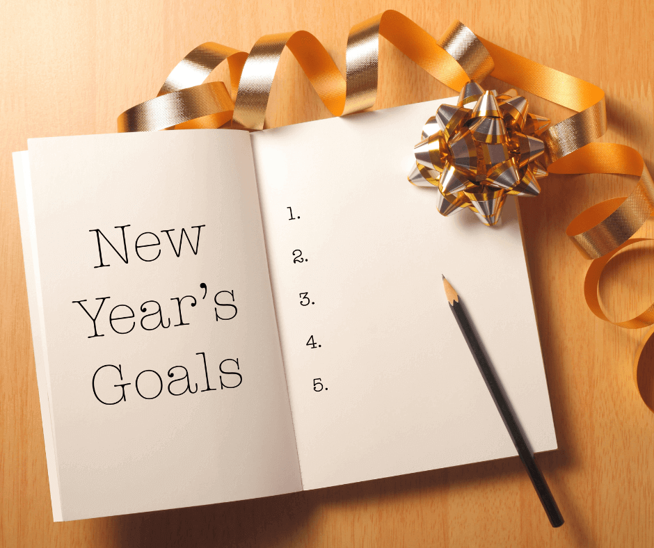 Writing down 5 new year's goals for the year ahead