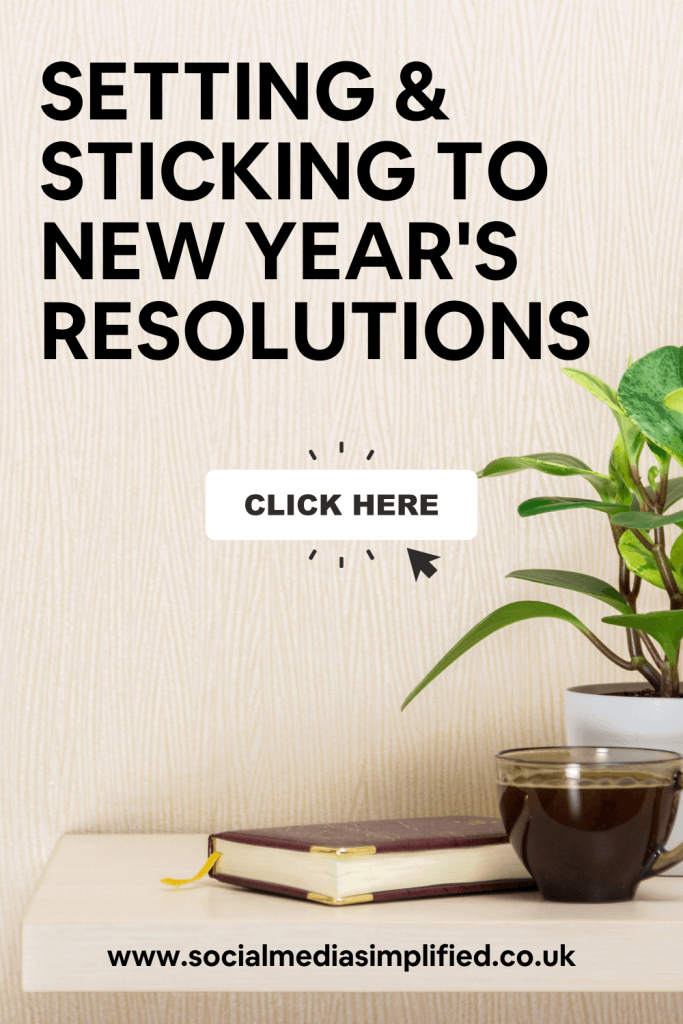 Pin image describing how to set and stick to resolutions