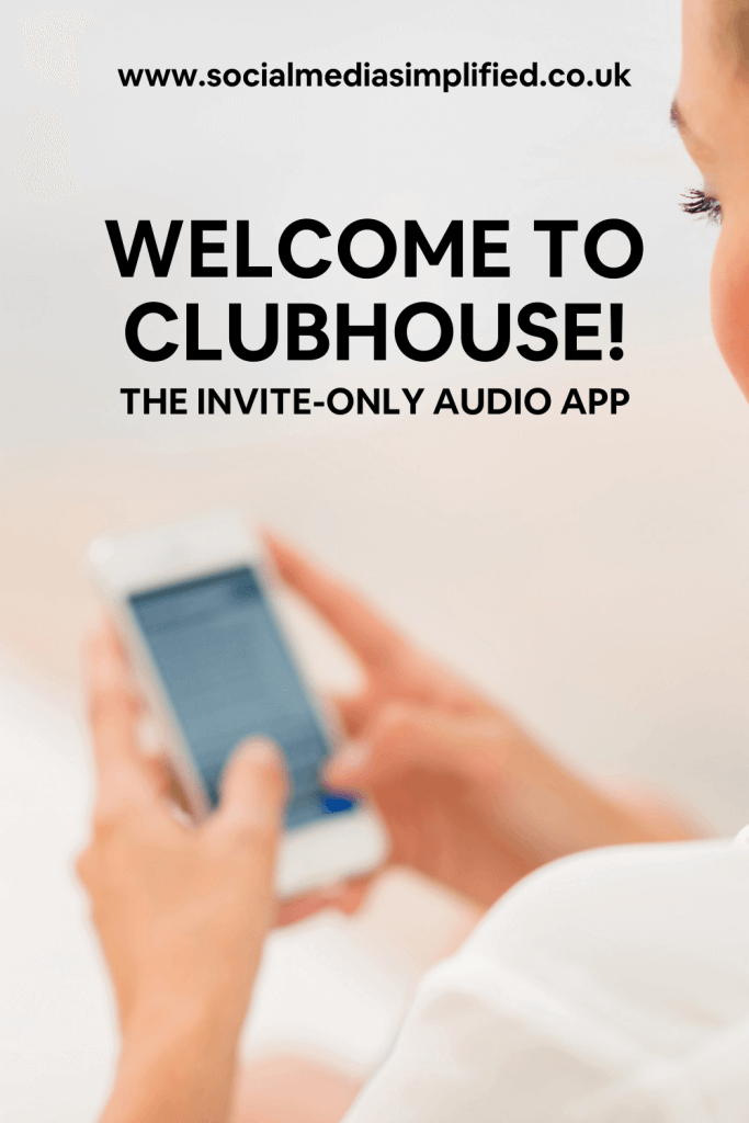 Woman on the Clubhouse app on her phone