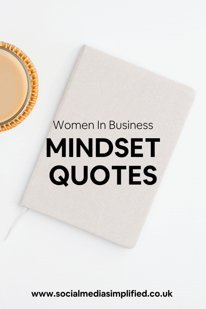 A journal flatlay full of mindset quotes