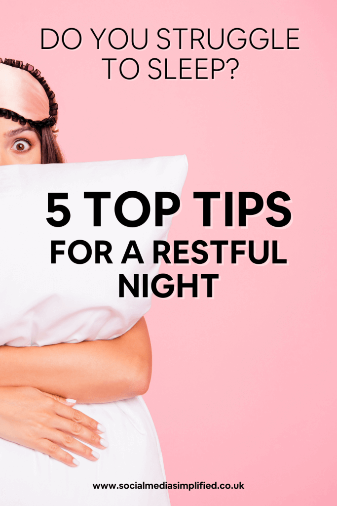 Top tips for a restful night sleep